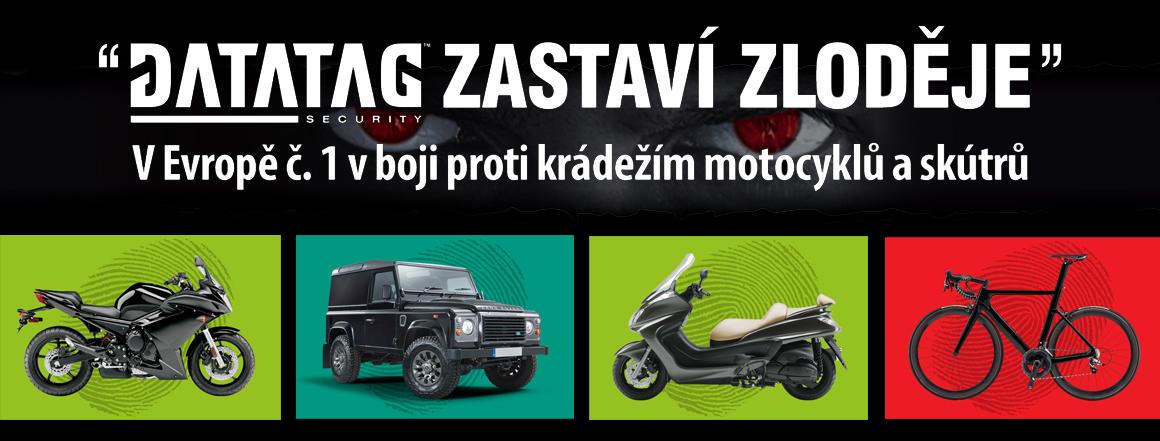 Datatag bezpečnostní systém pro vaši motocykl