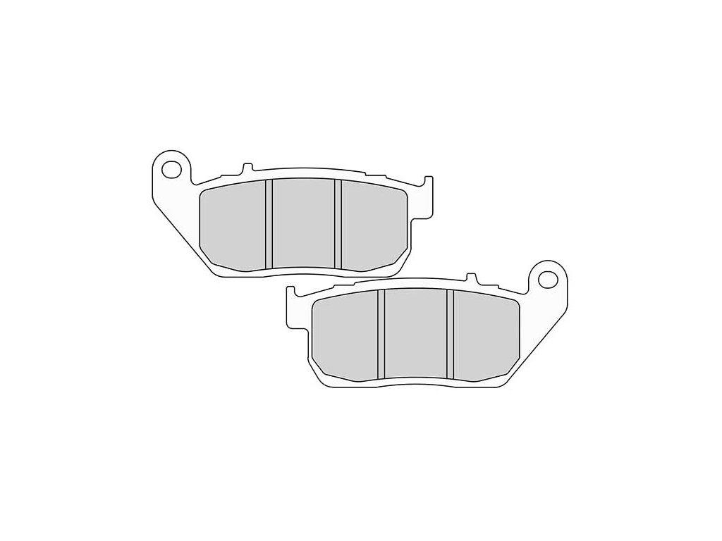 Brzdové destičky FERODO pro Sportster XL 04-13 front/přední