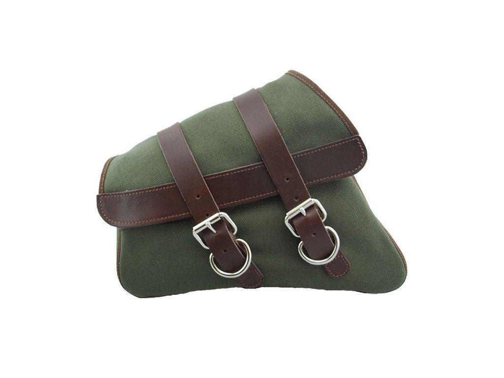 Plátěný batoh LaRosa Design na levý bok - Zelený