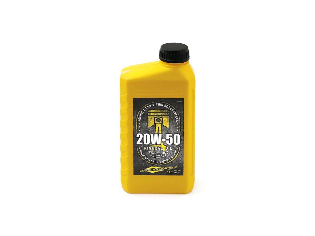 Motorkářský motorový minerální olej pro Harley Davidson MCS SAE 20W-50 Mineral Motor Oil