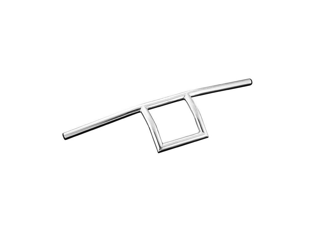 "Řidítka Square Chrome Diameter 25,4mm (1""), Width 700 Pullback 80 Height 170 mm"