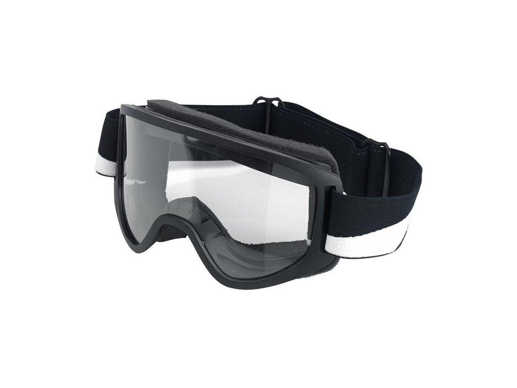 Motorkářské brýle s úpravou zabraňující mlžení Biltwell MOTO 2.0 Bolts Black v černé barvě