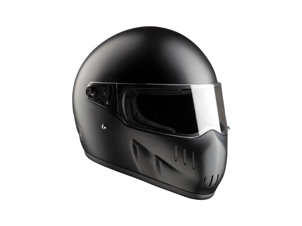 Motorkářská lehká integrální helma EXX MATT BLACK ECE v černé matné barvě