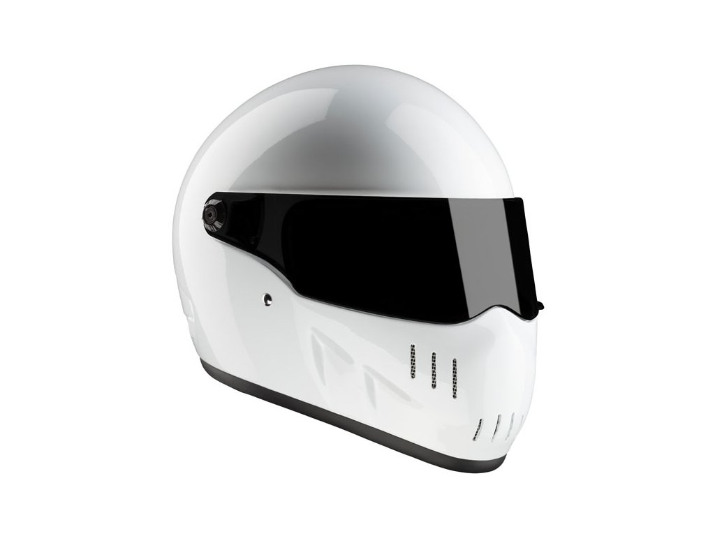 Motorkářská lehká integrální helma EXX WHITE ECE v bílé barvě