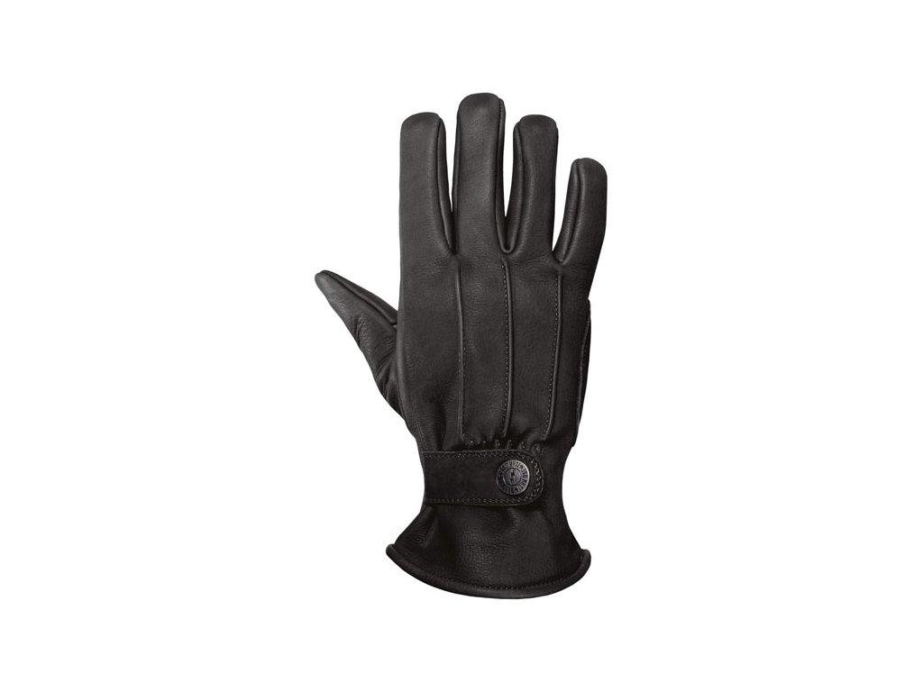 Motorkářské rukavice z hovězí kůže John Doe FREEWHELEER GLOVES BLACK v černé barvě