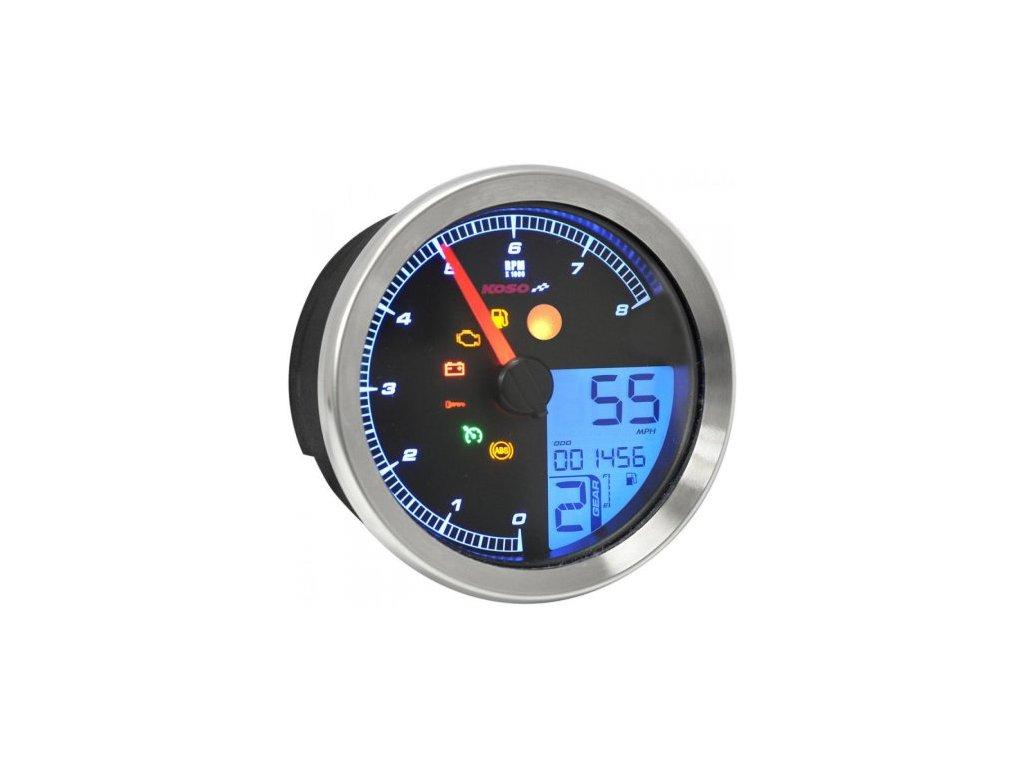 KOSO HD-01 Speedo/Tacho, Chrome