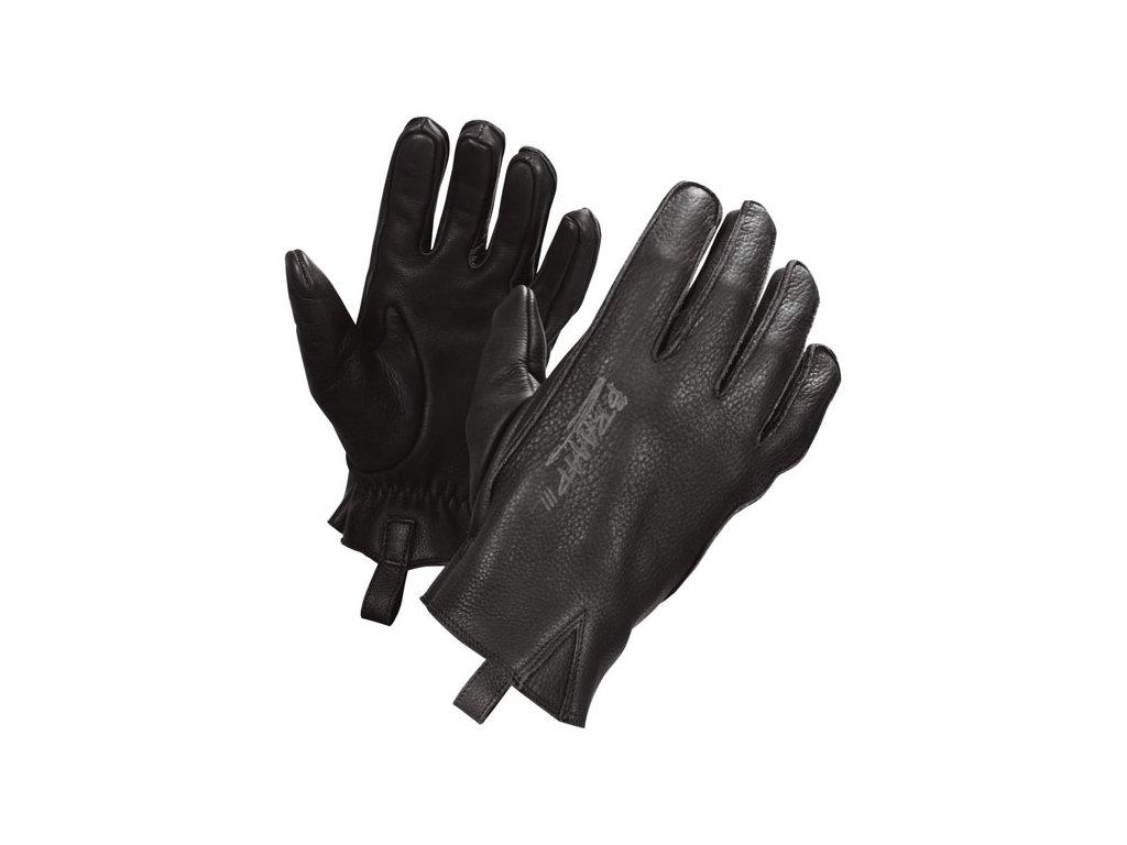 Motorkářské rukavice z hovězí kůže John Doe IRONHEAD GLOVES BLACK v černé barvě