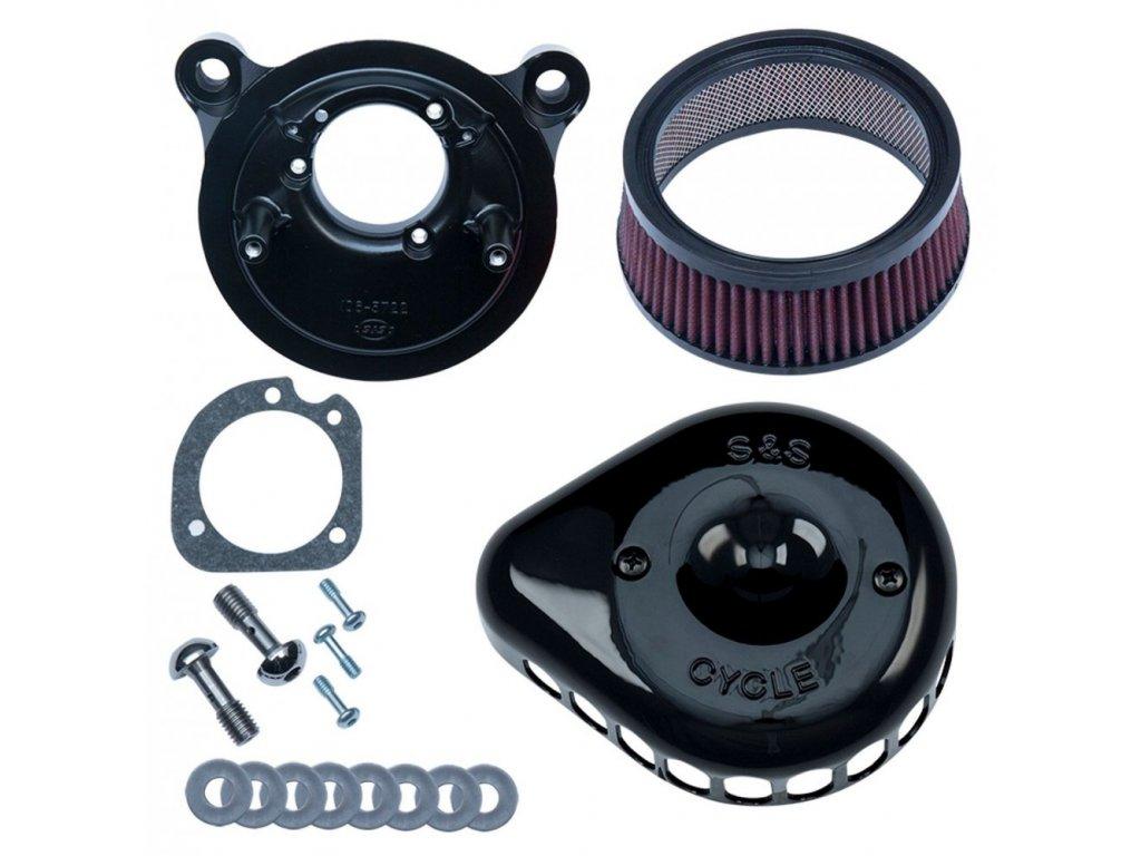 S&S  Mini Teardrop Stealth Kit Vzduchový filtr, Stock Delphi EFI, Černý