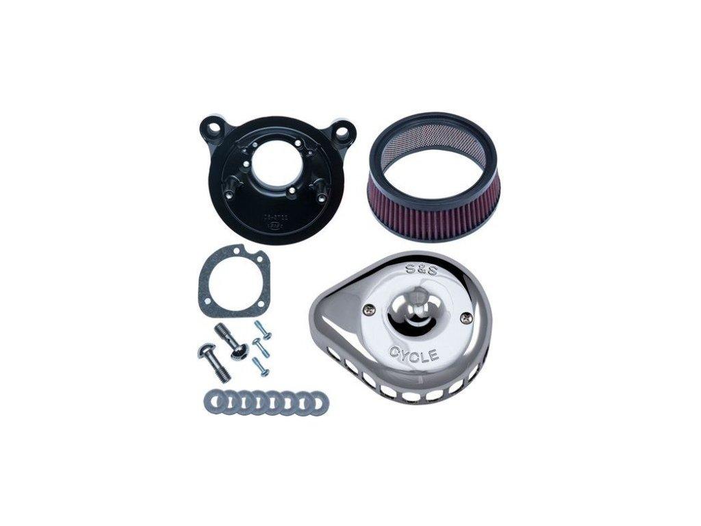 S&S, Mini Teardrop Stealth Kit Vzduchový filtr , Stock Bore Throttle Body, Chrom