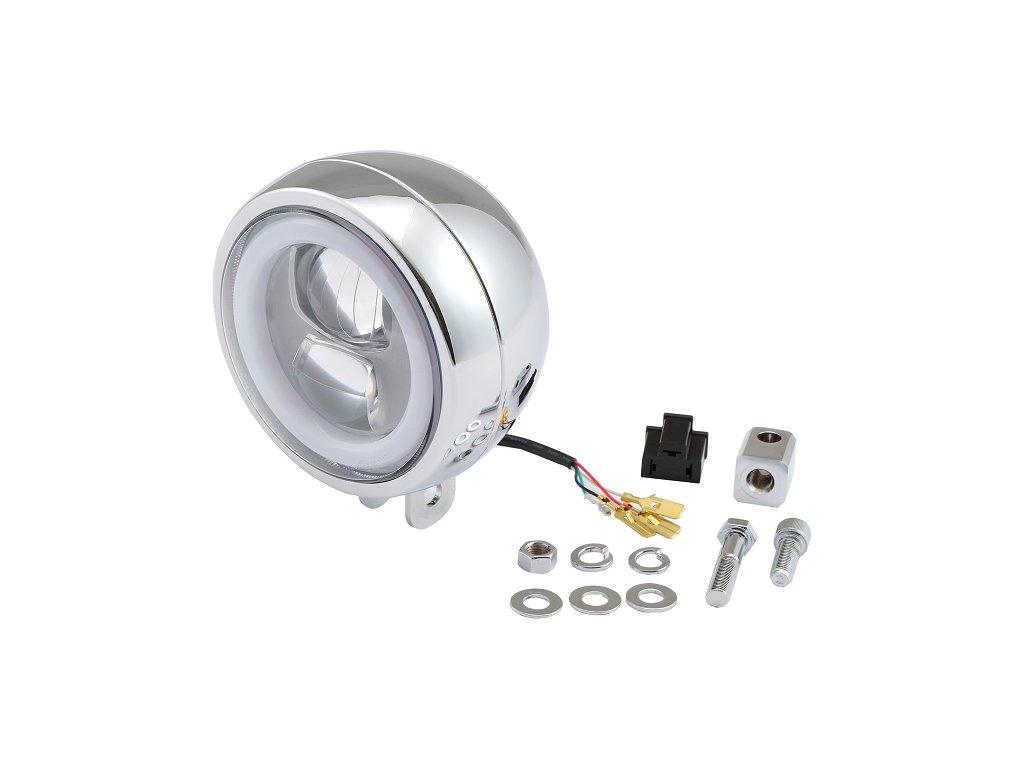 Capsule120, LED světlomet, Přední montáž, Chrom