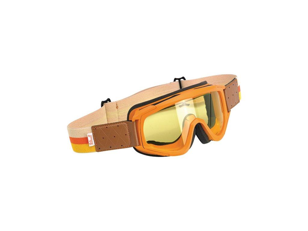 Motorkářské brýle s úpravou zabraňující mlžení Biltwell Overland Orange v oranžové barvě