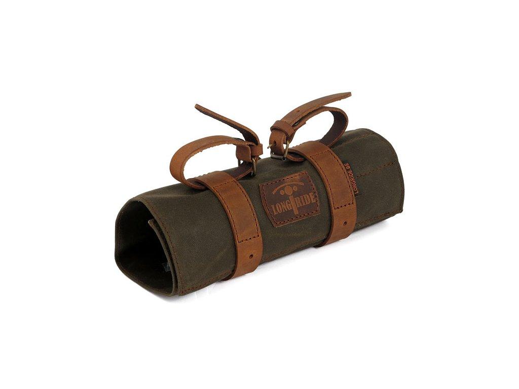Motorkářská brašna na nářadí z voskované bavlny v úžasném retro stylu LONGRIDE TOOLBAG KHAKI v khaki barvě
