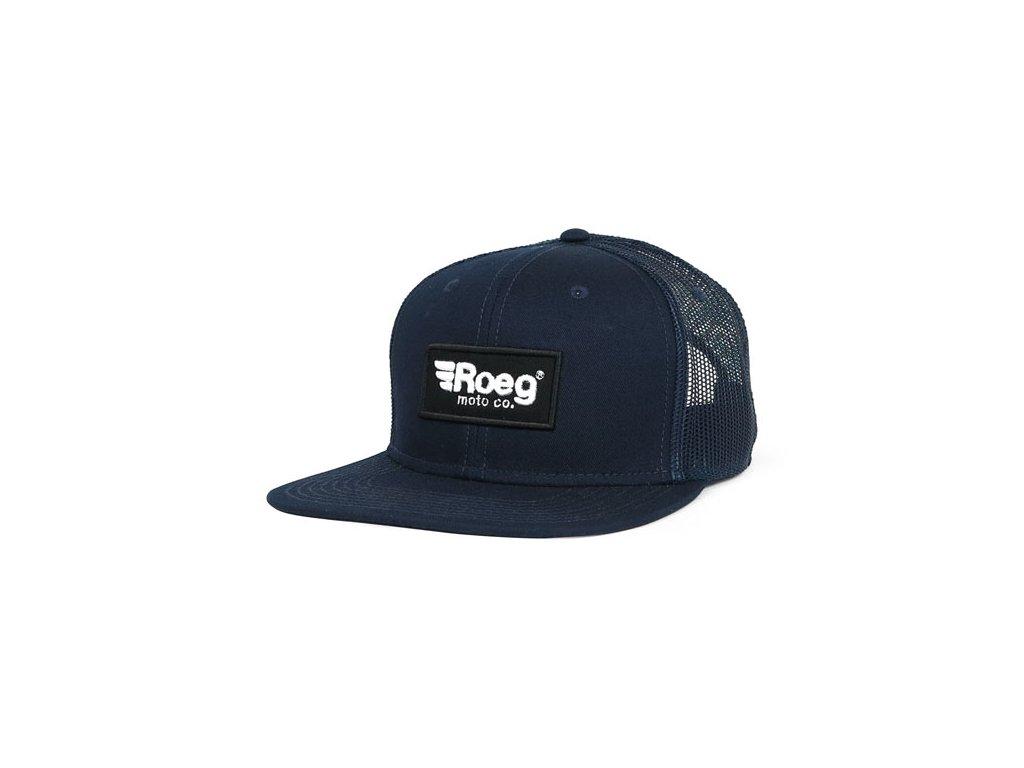 Motorkářská kšiltovka s nastavitelnou velikostí ROEG BLAKE FLAT PANEL CAP DARK BLUE v tmavě modré barvě