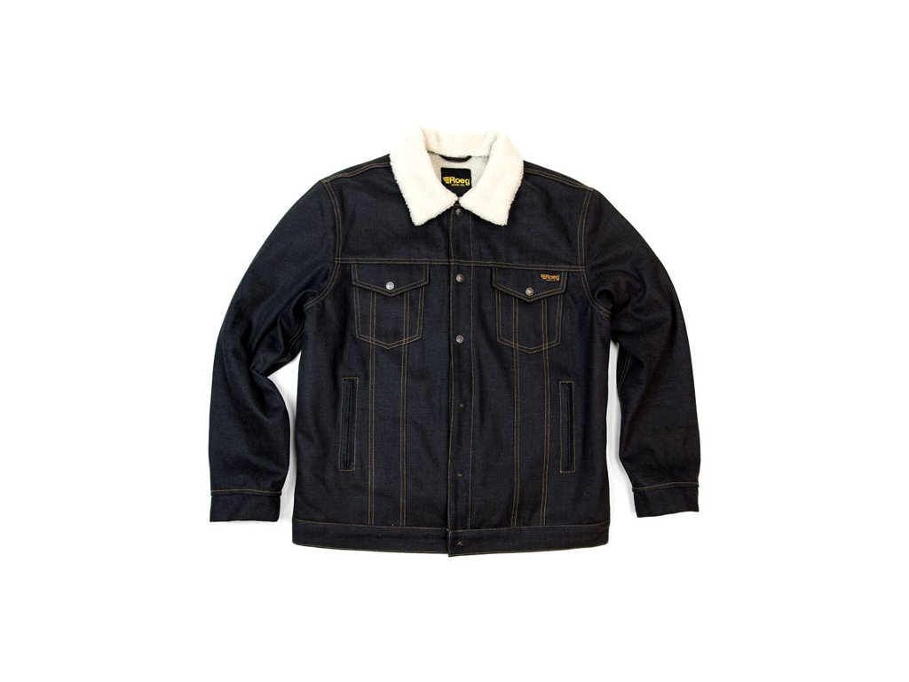 Motorkářská bunda s teplou vložkou a límcem z beránka ROEG JACK JACKET v tmavě modré barvě