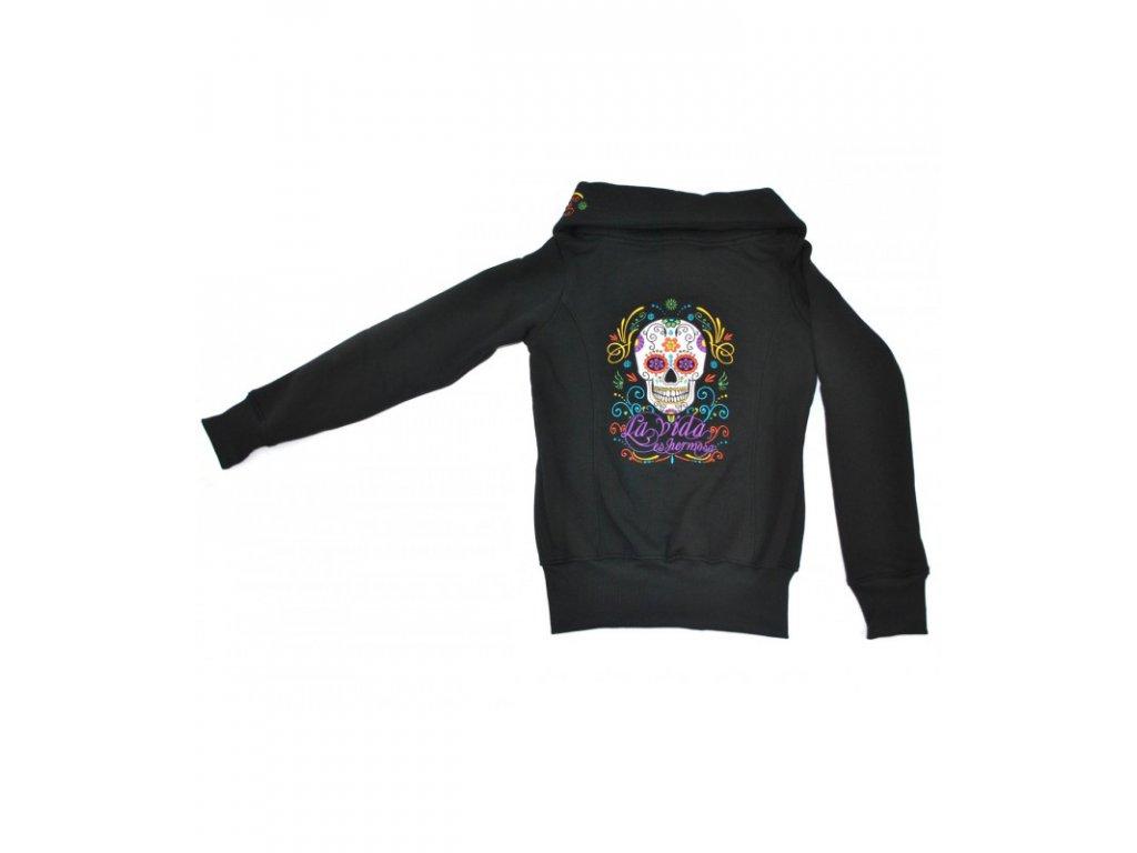 Dámská mikina BLD 21 Mexican Skull
