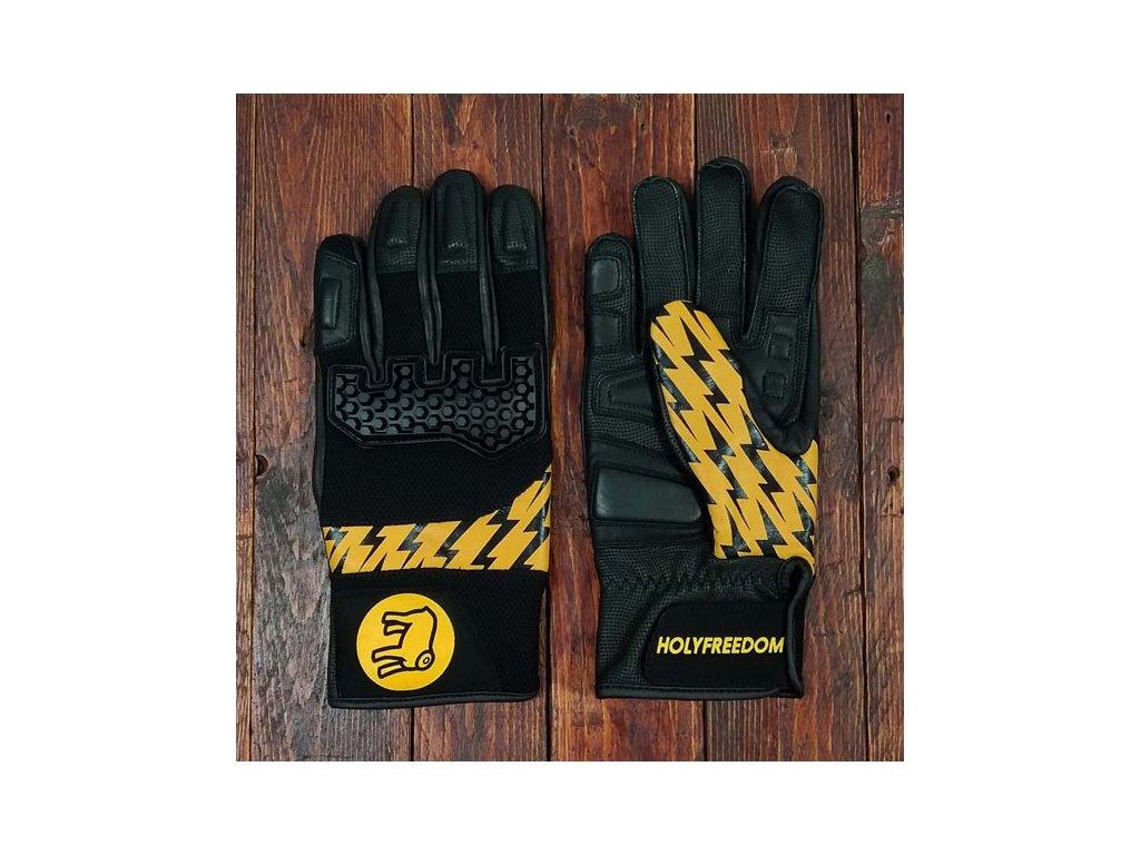 Holy Freedom Bullit worker rukavice žluto černé