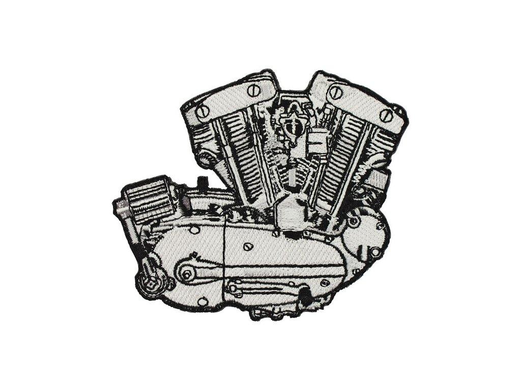 Stylová nášivka Lowbrow HD Ironhead Sportster Engine TW Ryder
