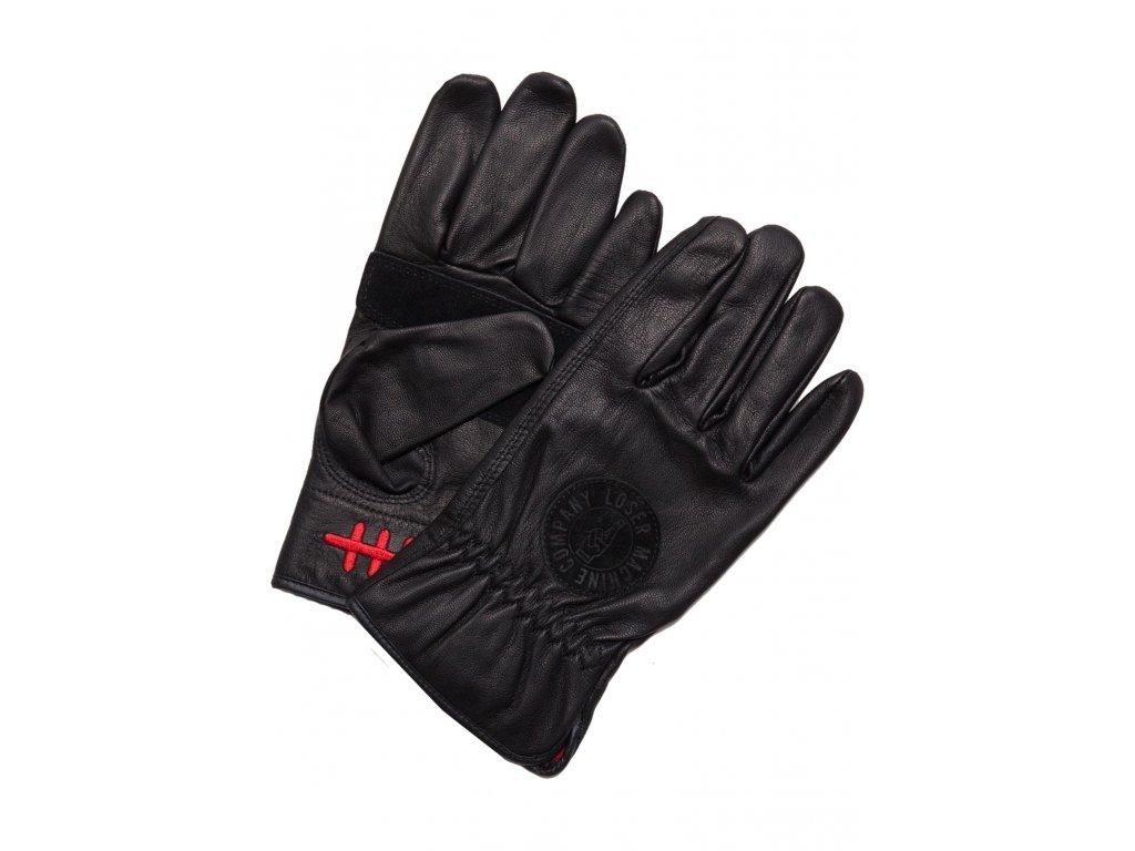Loser Machine Handschuhe Deathgrip black Vorderansicht gloves černé rukavice www.twryder.cz 1