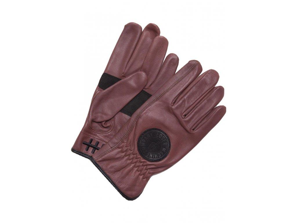 Loser Machine Handschuhe Deathgrip black Vorderansicht gloves hnědé rukavice www.twryder.cz 1