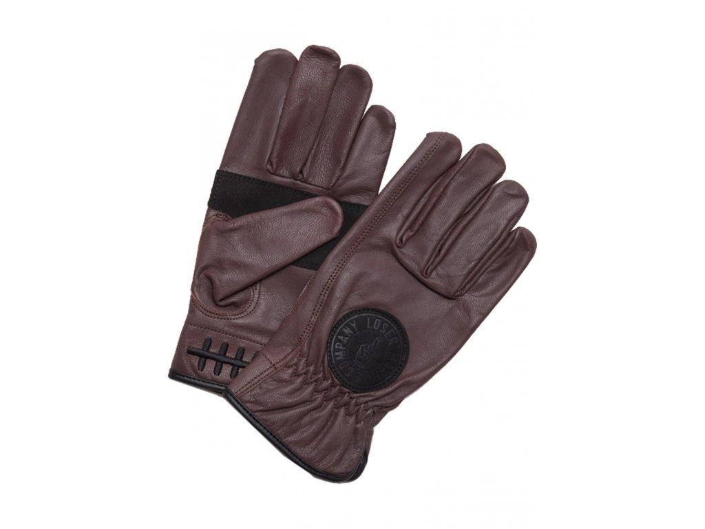 Loser Machine Handschuhe Deathgrip black Vorderansicht gloves tmavě hnědé rukavice www.twryder.cz 1