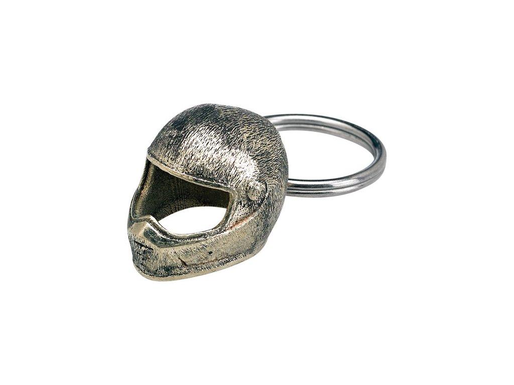 Přívěšek na klíče Biltwell Lane Splitter Helmet, materiál bílá mosaz TW Ryder