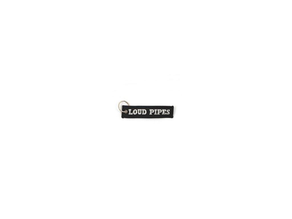 Přívěšek na klíče MCS Loud Pipes Saves Lives, barva černá TW Ryder