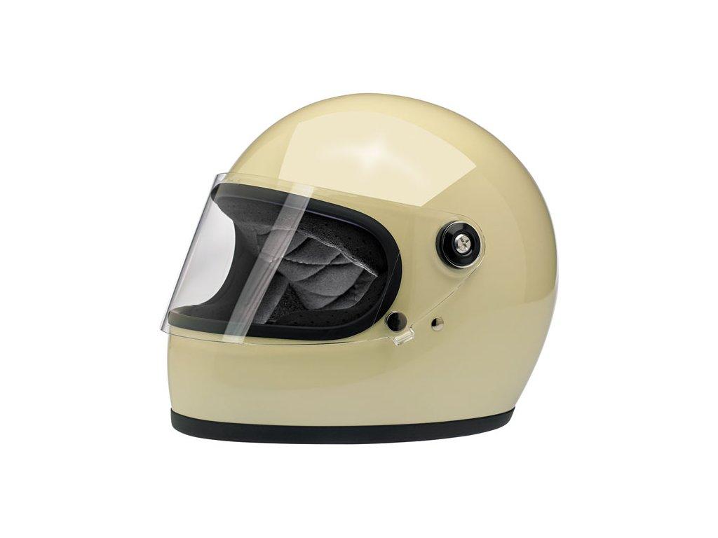 569616 Biltwell gringo S helmet gloss vintage white uzavřená helmat lesklá bílá ECE homologace www.twryder.cz