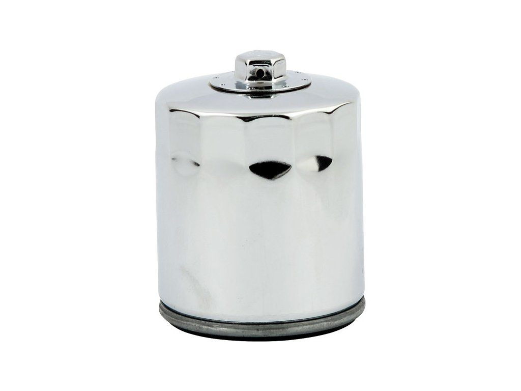 Chromový olejový filtr, magnetický. HARLEY DAVIDSON V-Rod 2002 - 2017  HD OEM 63793-01K. TW Ryder