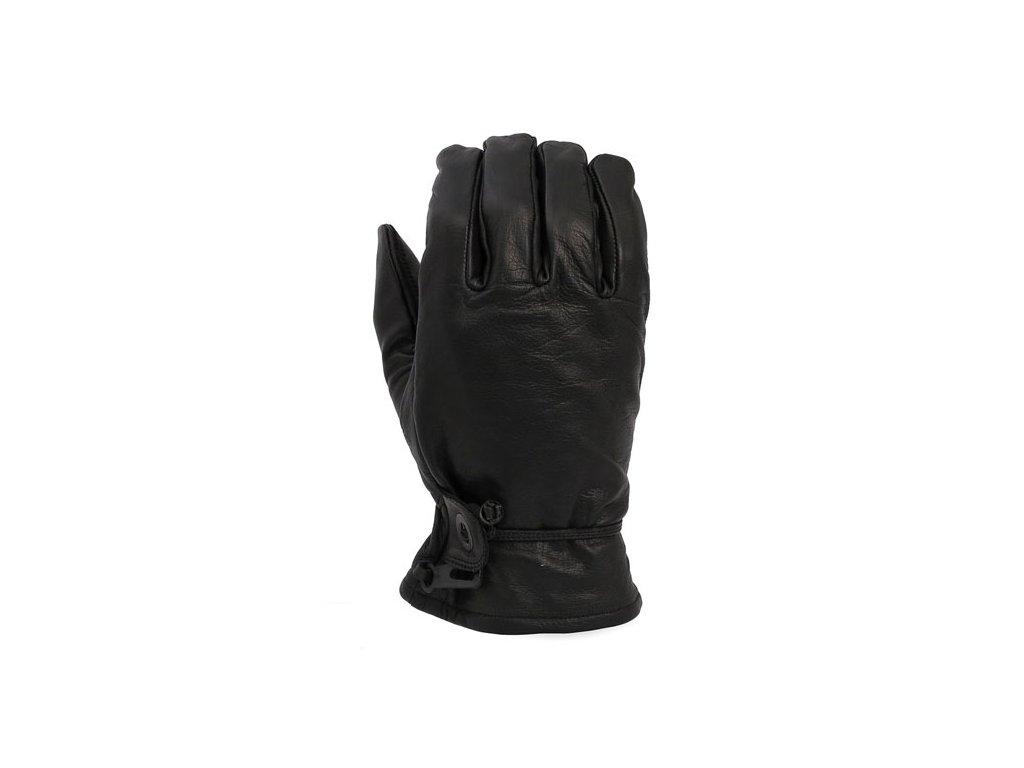 Motorkářské pohodlné rukavice z pravé kůže MCS BLACK v černé barvě
