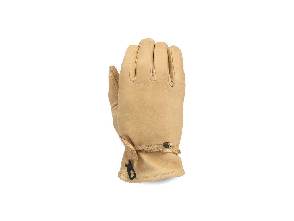 Motorkářské pohodlné rukavice z pravé kůže MCS SAND v pískové barvě