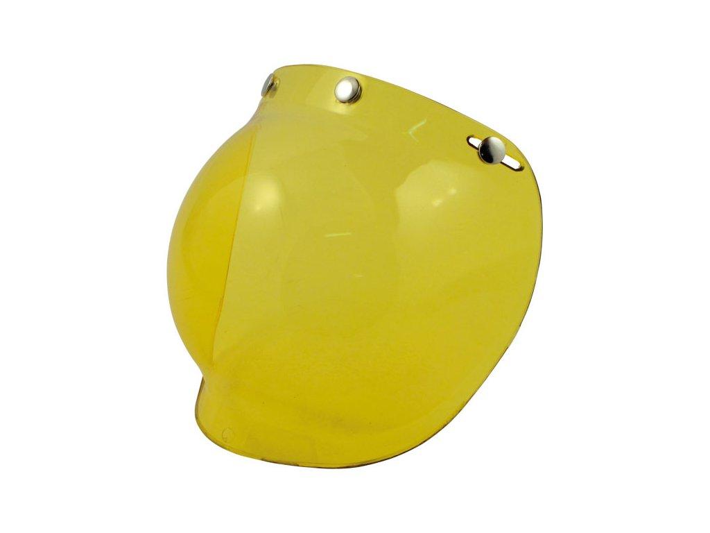 Žlutý štít pro Bandit Jet přilby, vyrobeno z Polykarbonátu. TW Ryder