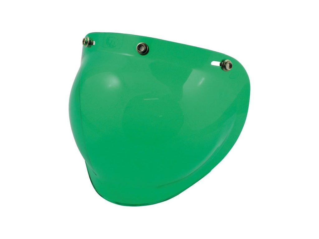 Zelený štít pro Bandit Jet přilby, vyrobeno z Polykarbonátu. TW Ryder