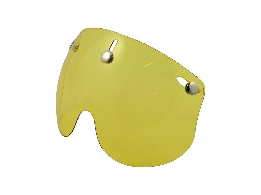 Žlutý krátký štít pro Bandit Jet přilby, vyrobeno z Polykarbonátu. TW Ryder