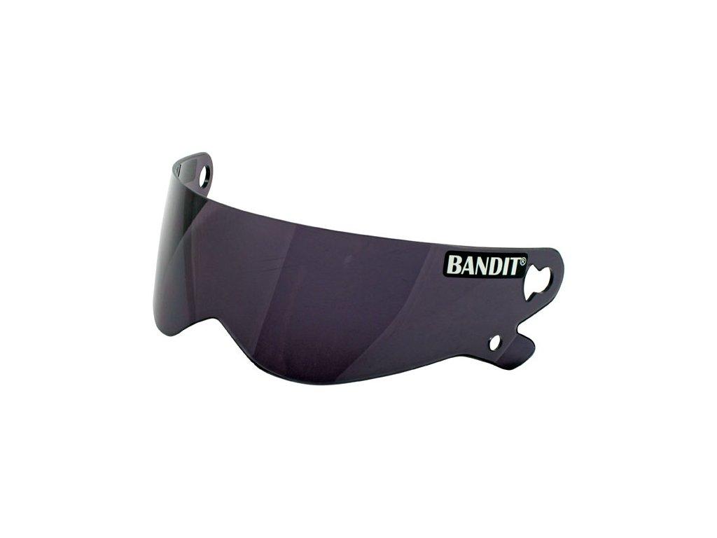 Tmavě kouřový výměnný plexi štít pro Bandit XXR, Crystal a Superstreet II přilby, vyrobeno z Polykarbonátu. TW Ryder