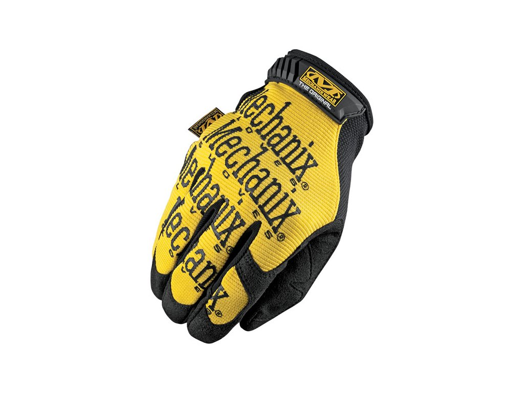 Motorkářské odolné rukavice určené pro těžkou práci MECHANIX THE ORIGINAL BLACK/YELLOW ve žluté barvě. TW Ryder