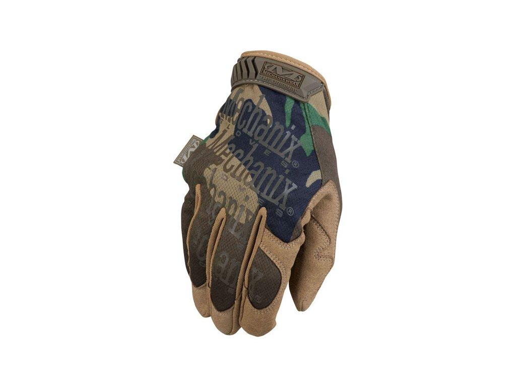 Motorkářské odolné rukavice určené pro těžkou práci MECHANIX THE ORIGINAL BLACK CAMO v maskovací barvě. TW Ryder