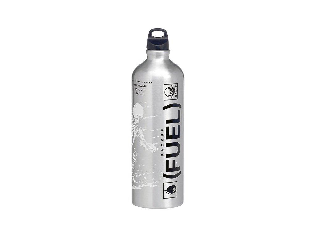 Rezervní palivová láhev od Lowbrow Customs. Obsah887 ml, materiál ultra lehký, bezešvý extrudovaný hliník. TW Ryder