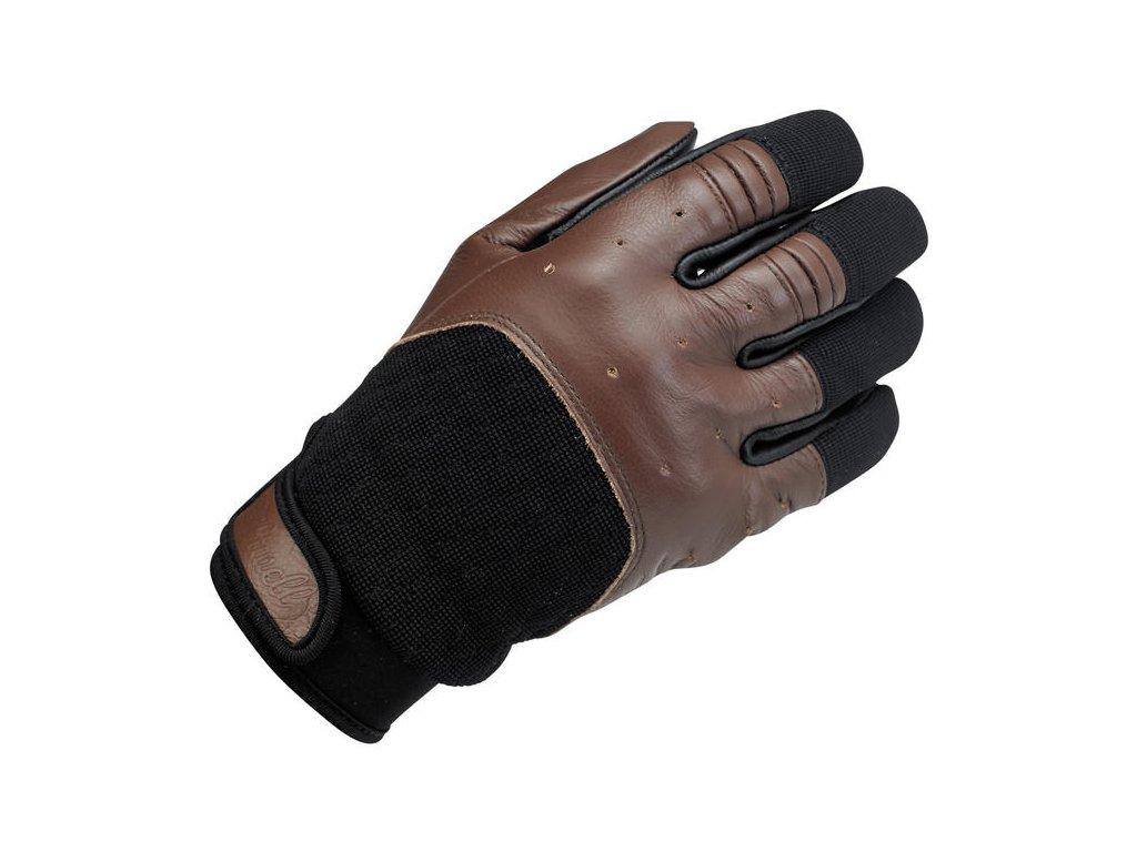 Rukavice Bantam Gloves Chocolate Black Biltwell