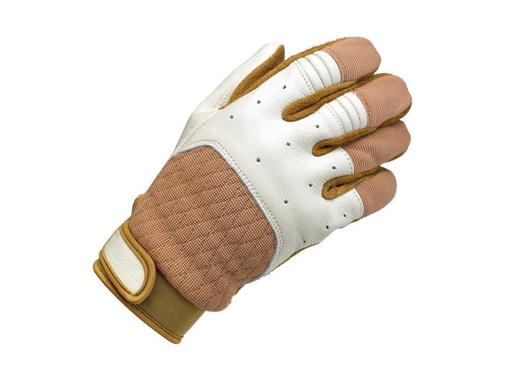 Rukavice Bantam Gloves - White/Tan Biltwell