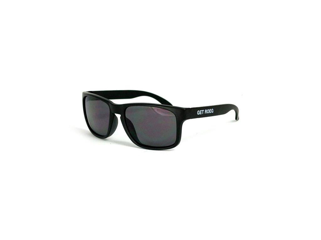 Motorkářské sluneční brýle s UV ochranou ROEG Billy Black v černé barvě