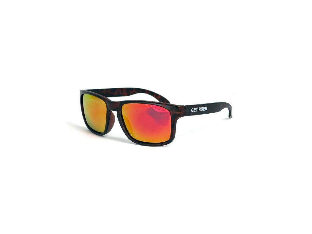 Motorkářské sluneční brýle s UV ochranou ROEG Billy Brown Tortoisev hnědé barvě