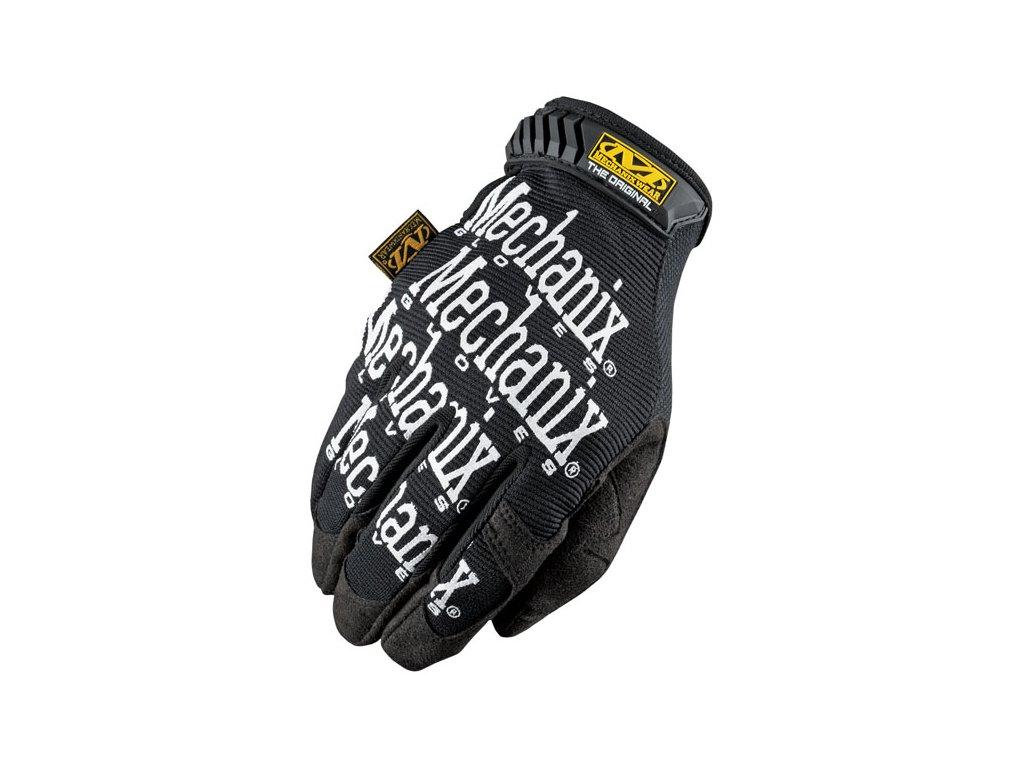 Motorkářské odolné rukavice určené pro těžkou práci MECHANIX THE ORIGINAL BLACK/WHITE  v černé barvě. TW Ryder