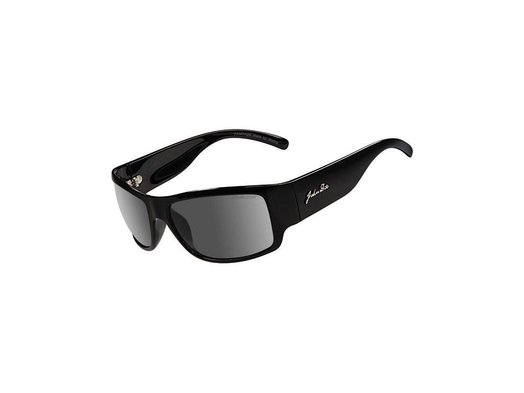 Motorkářské sluneční brýle John Doe KAMIKAZE v černé barvě