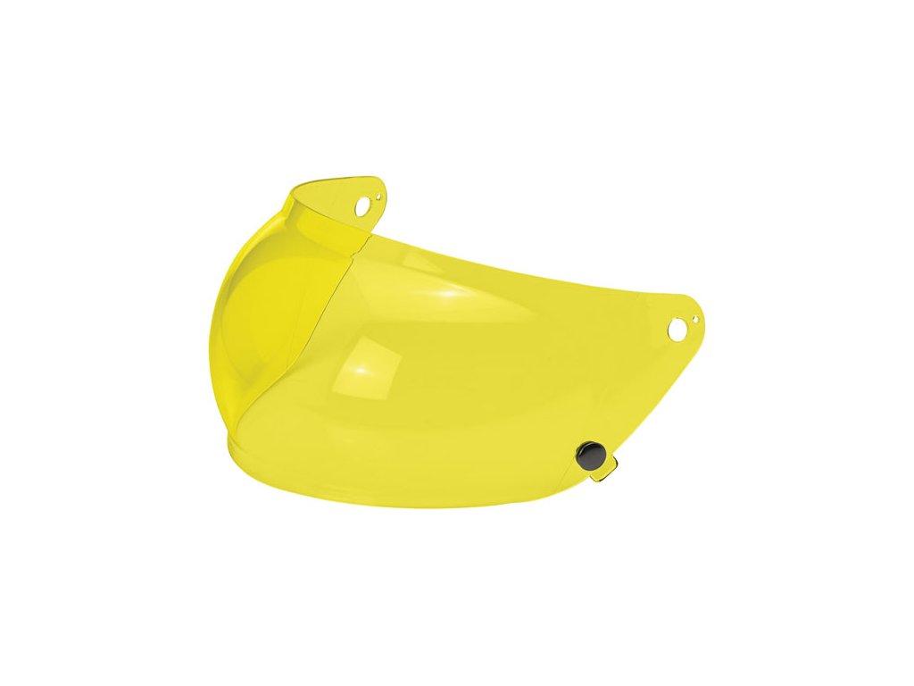 Motorkářský štít pro helmy Gringo S s proti mlžící funkcí ve žlutém zabarvení