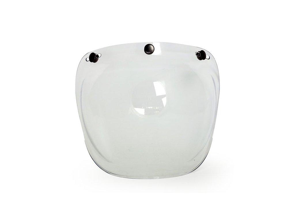 Motorkářský polykarbonátový vypouklý štít pro Roeg Jett přilby ROEG® štít Clear bez zabarvení