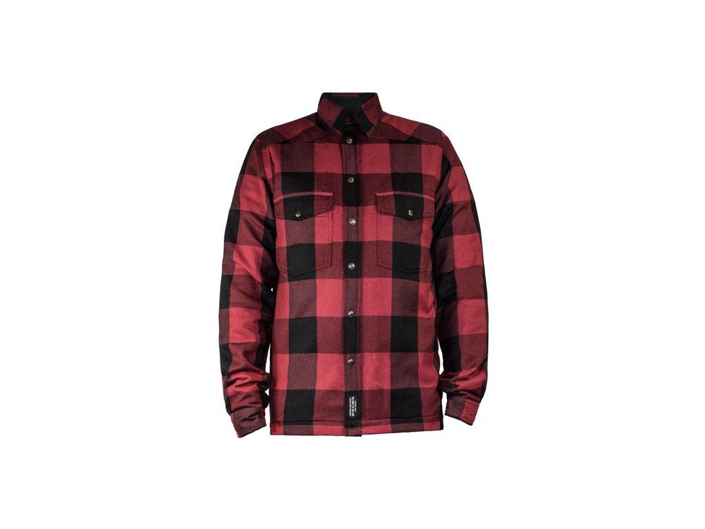 Motorkářská kevlarová moto košile John Doe Lumberjack MOTORSHIRT RED v červené barvě