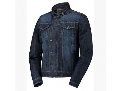 Motorkářská klasická džínová bundas nepromokavým zipem ROKKER Revolution Jacket v tmavě modré barvě