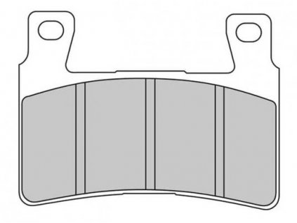 Brzdové destičky FERODO pro Softail a XR 15-17 front/přední