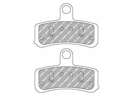 Brzdové destičky FERODO pro Softail/Dyna 08-14 front/přední