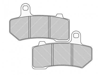 Brzdové destičky FERODO pro Softail/VRSC/Touring 08-17 rear/zadní